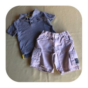Old Navy polo & khaki shorts outfit 3T
